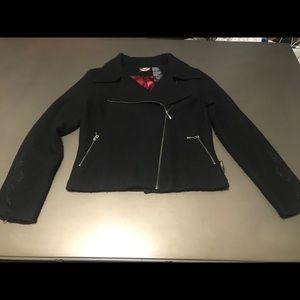Women's Harley-Davidson Black Wool Jacket Size L